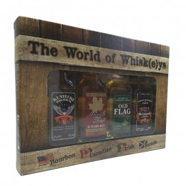 Miniatura Set de 4 whiskies del mundo